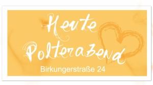 riesen Banner zum Polterabend personalisiert mit Foto