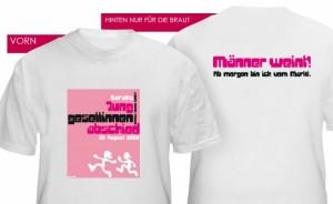 T-Shirts zum Junggesellinnenabschied mit persönlichem Druck