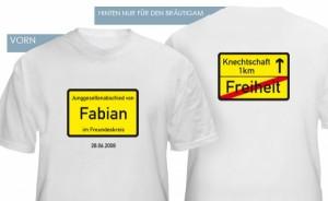 T-Shirts zum Junggesellenabschied mit lustigen Motiven
