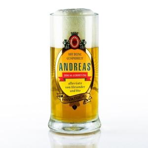 Bierglas mit eigenem Logo und echtem Golddruck