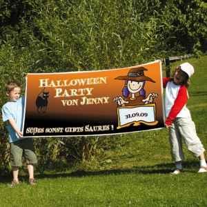 Schönes Banner zur nächsten Halloweenparty
