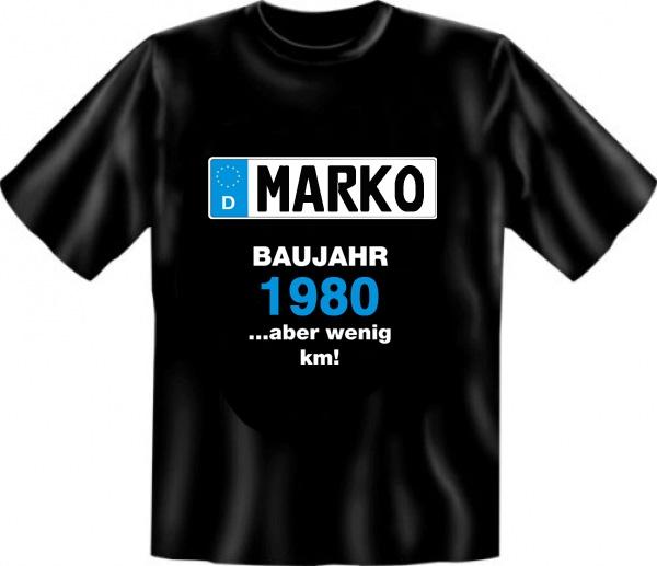 """Super originelle Geschenkidee zum Geburtstag: das ultimative Baujahr T-Shirt in Kombination mit dem Partyspiel """"TÜV-Bericht"""""""