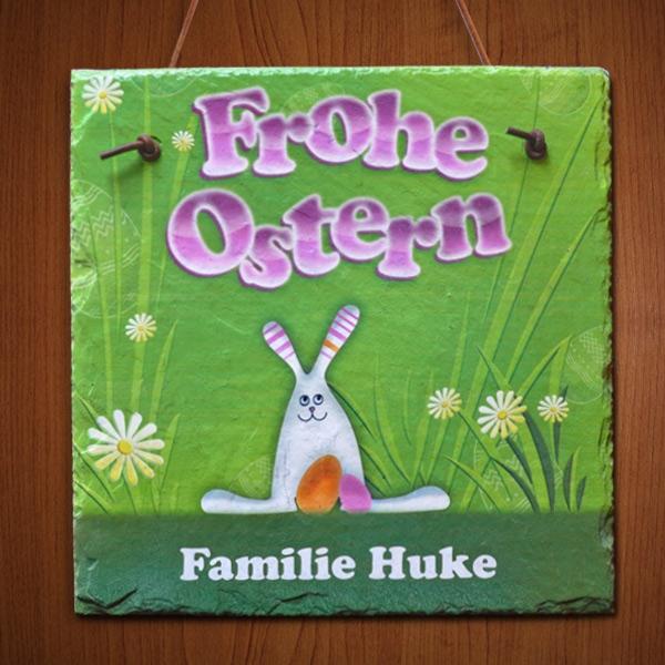 Diese Schiefertafel ist das ideale Ostergeschenk für die ganze Familie!