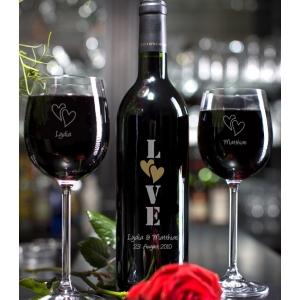 Schönes Weinset für einen schönen Anlass